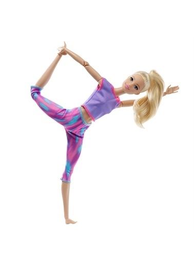 Barbie Gxf04 Sarışın-Desenli Taytlı Sonsuz Hareket Barbie Sarı